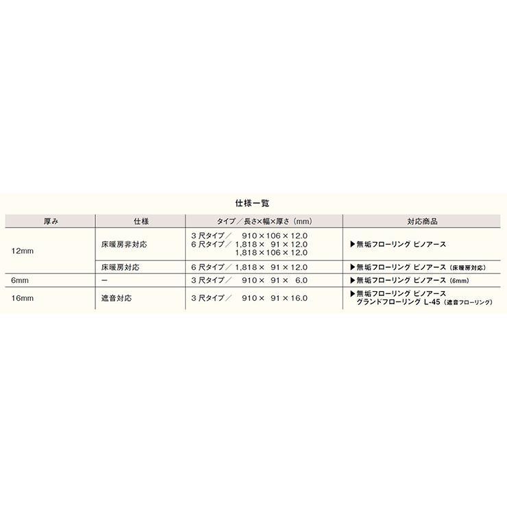 無垢フローリング ピノアース 6尺タイプ  1818×106×12.0mm 18枚 3.47平米 1坪入ウッドワン WOODONE|jyu-tus|08