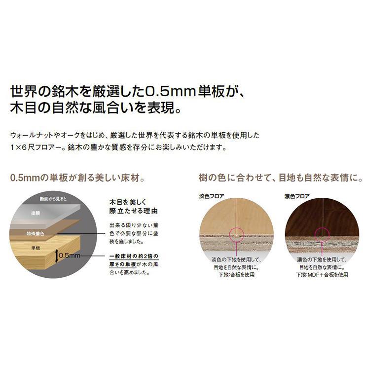 コンビットグラードプラス R 101 艶消し    1818×303×12.0mm 6枚 3.31平米 1坪入 ウォールナットウッドワン WOODONE|jyu-tus|06
