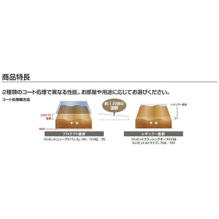 コンビットブラッシングオークV152   1818×303×12.0mm 6枚 3.31平米 1坪入 ウッドワン WOODONE jyu-tus 06