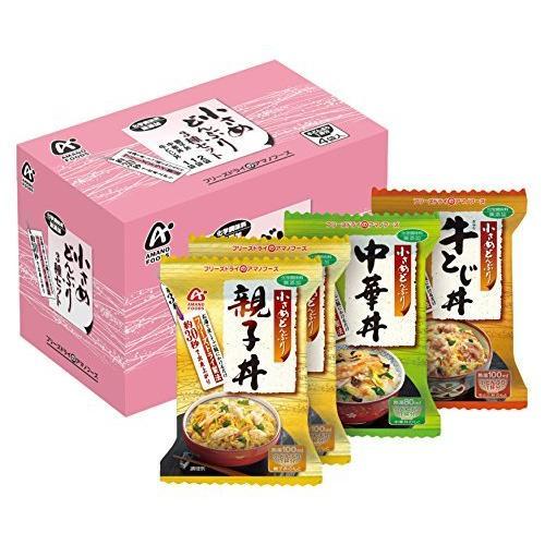 アマノフーズ 小さめどんぶり 4食P(3種入)|jyun-store