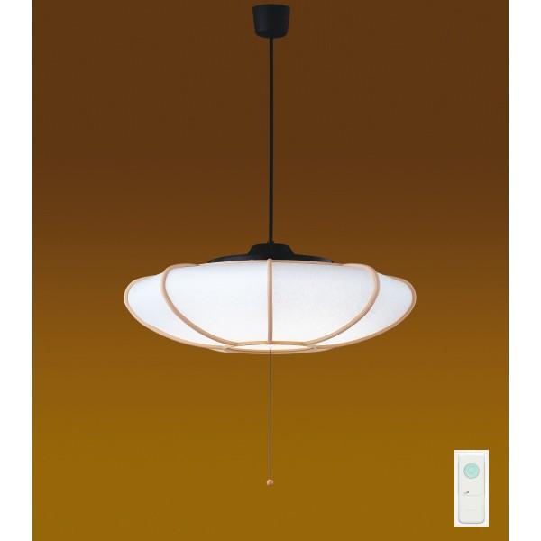 【LEDP81006PL-LD】東芝 和風照明 プルかべリモコン LEDペンダント 単色タイプ 曲水 電球色 〜8畳 【toshiba】