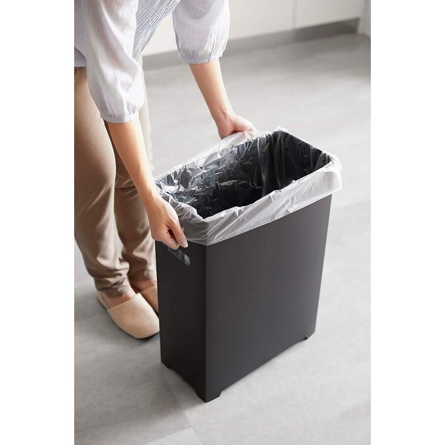 山崎実業 スリム蓋付きゴミ箱 タワー  ブラック 【品番:05204】|jyusetsupro|04