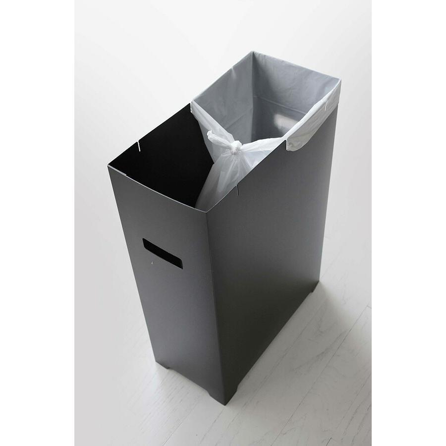 山崎実業 スリム蓋付きゴミ箱 タワー  ブラック 【品番:05204】|jyusetsupro|06