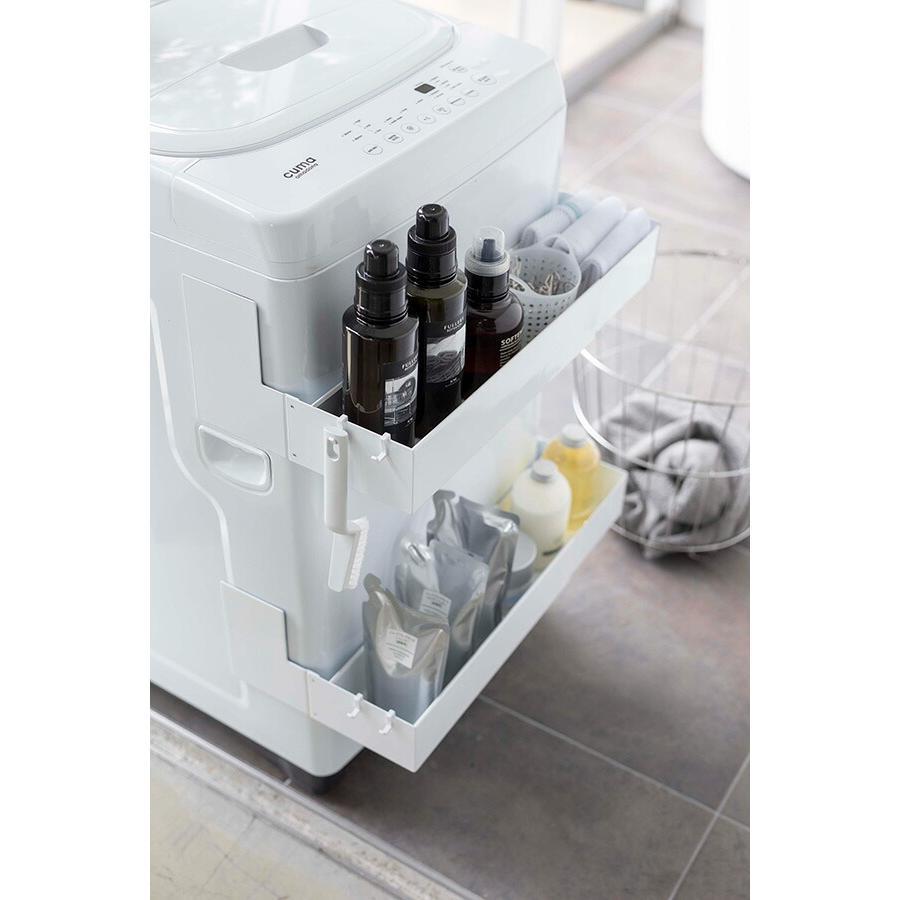 山崎実業 マグネット伸縮洗濯機ラック タワー ホワイト 品番 05272|jyusetsupro|03