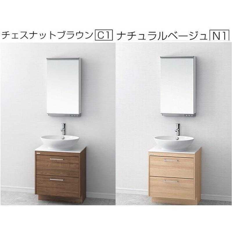 洗面台 洗面化粧台 600 引出収納 アサヒ衛陶 デザイン洗面化粧台 AURA オーラ LKAU600AFNJ おしゃれ