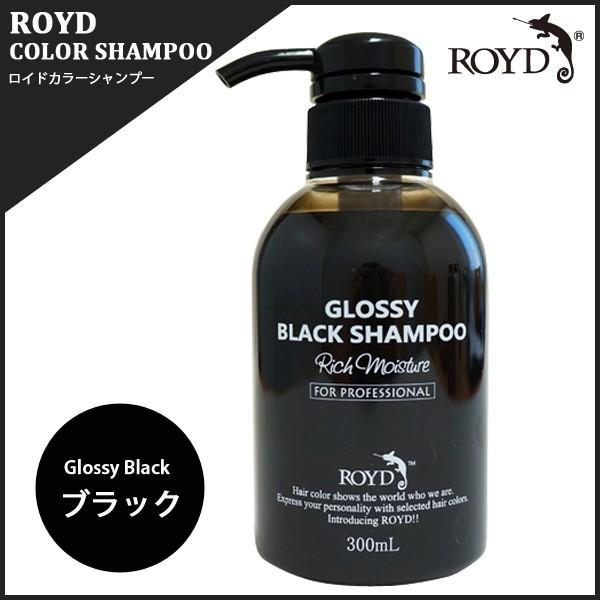 ロイド カラーシャンプー ブラック[GLOSSY BLACK] 300ml ブラックシャンプー k-brand