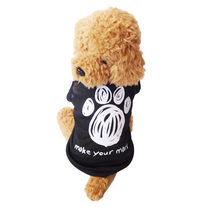 犬 服 犬服 犬の服 おしゃれ トイプードル チワワ タンクトップ 足跡柄 ドッグウェア|k-city|02