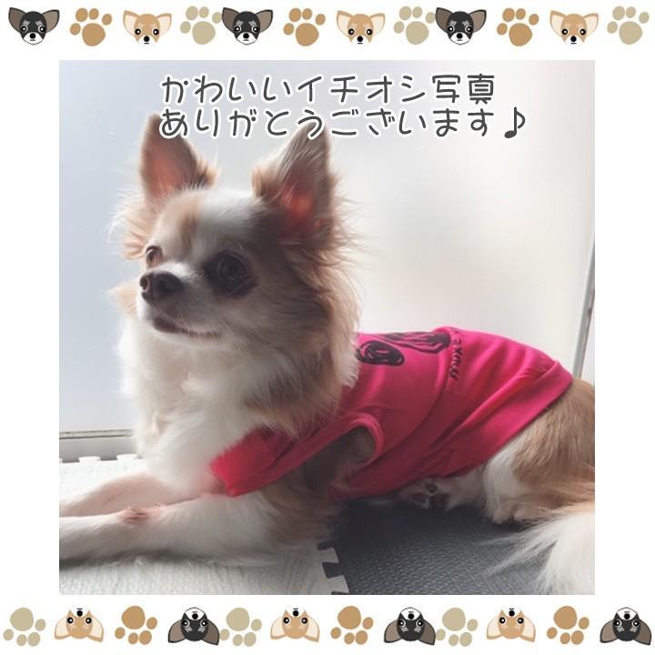 犬 服 犬服 犬の服 おしゃれ トイプードル チワワ タンクトップ 足跡柄 ドッグウェア|k-city|11