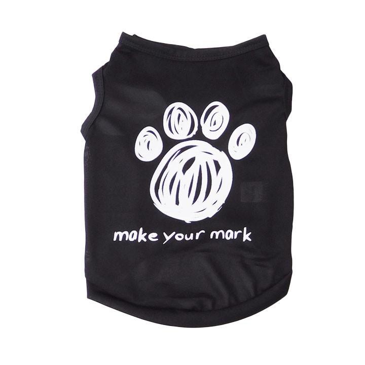 犬 服 犬服 犬の服 おしゃれ トイプードル チワワ タンクトップ 足跡柄 ドッグウェア|k-city|05