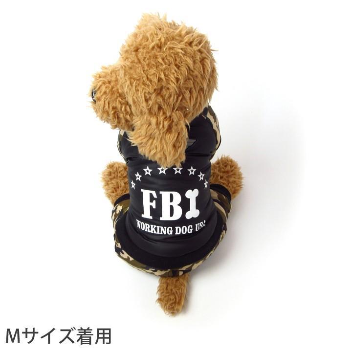 犬 服 犬服 犬の服 おしゃれ トイプードル チワワ DOG BABY ドッグベビー つなぎ カバーオール ロンパース 迷彩 FBI ドッグウェア 送料無料|k-city|02