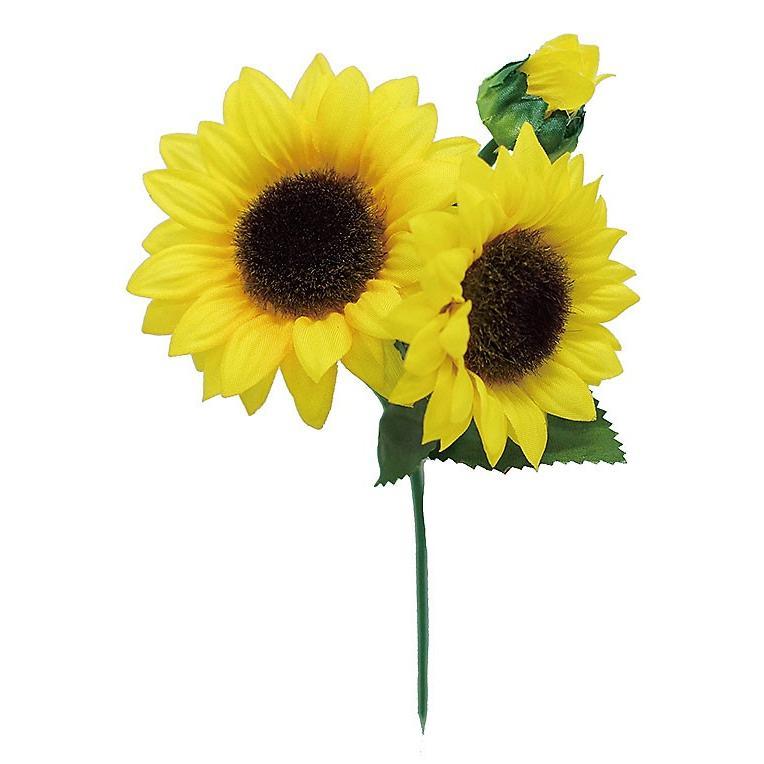 ひまわりピック 造花 アートフラワー 花材 激安 驚きの値段で 激安特価 送料無料