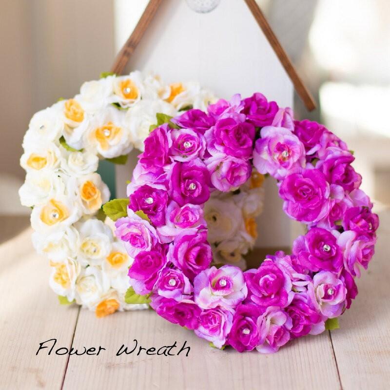 アートフラワーのリース ギフト 初売り プレゼント 造花 リース玄関 リース フック 与え