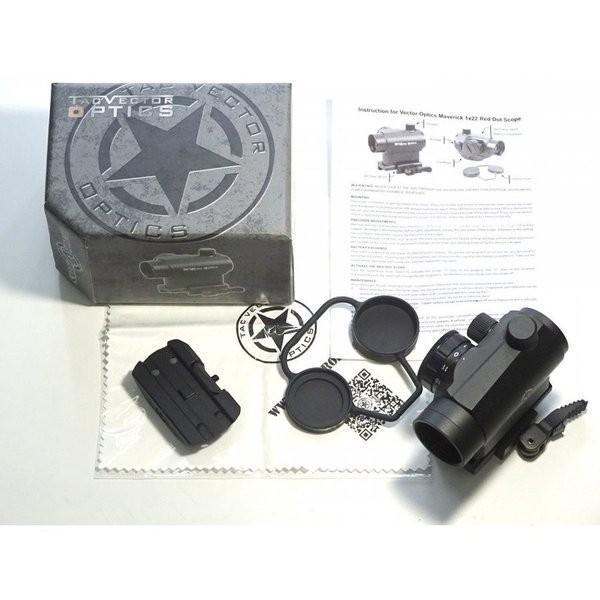 実物 VECTOR OPTICS ベクターオプティクス Maverick TAC  マーベリック T1タイプ ドットサイト 実銃対応 1x22 保証付き k-havens 05