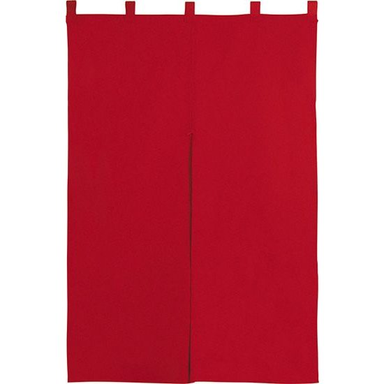 1811 メーカー在庫限り品 超美品再入荷品質至上 無地暖簾 半間のれん エンジ W850mm×H1200mm 素材:カツラギ 共チチ仕立て 反応染