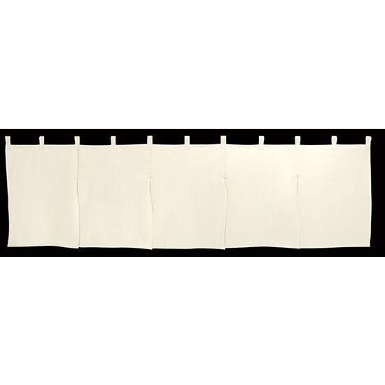 2459 無地暖簾 5巾のれん W1750mm×H500mm 反応染 素材:生成天竺 共チチ仕立て 安値 新作送料無料