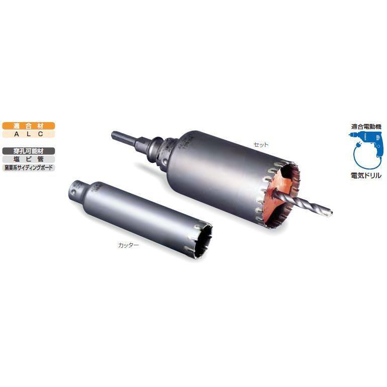 ミヤナガ ポリクリック ALC用コアドリル(セット) SDSプラスシャンク 115mm