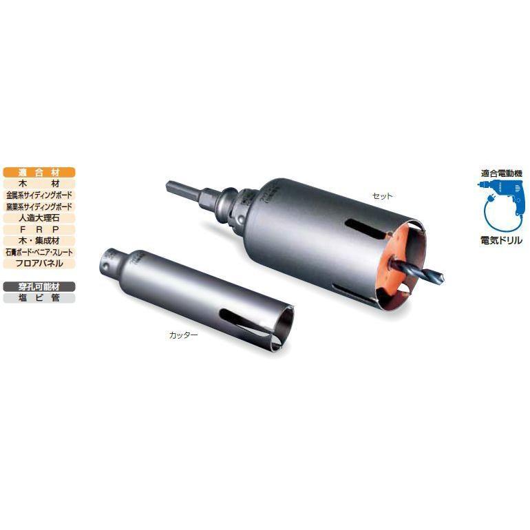 ミヤナガ ポリクリック ウッディングコアドリル(セット) SDSプラスシャンク 80mm
