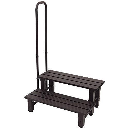 iimono117 Bandiera iimono117 手すり付き踏み台 アルミ製 玄関台 踏み台 ステップ台 [ 1段 2段 ] / 手すり 玄関|k-media
