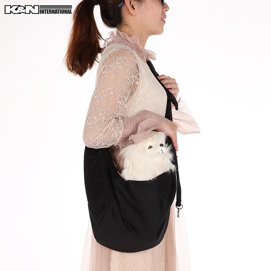 改良版! 犬 ペット ダブルリング スリングバッグ 抱っこひも 小型犬 猫用 サイズ調整可能 飛び出し防止フック付き 春夏秋冬モデル k-n-int 04