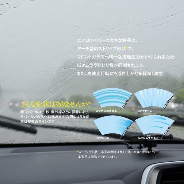 新型エアロワイパー トヨタ C-HR H28.12〜H30.5 ZYX10/NGX50 400mm×650mm 2本セット|k-o-shop|02