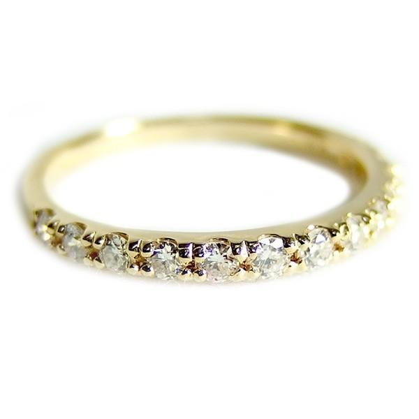 本物品質の ダイヤモンド リングハーフエタニティ 0.3ct 10.5号 K18イエローゴールド 0.3カラット エタニティリング 指輪 鑑別カード付き, 周防大島町 046109a1