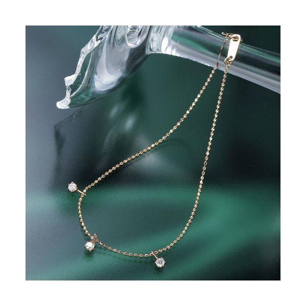 【史上最も激安】 K10ピンクゴールド0.15ct トリプルダイヤモンドブレスレット, ノツハルマチ d3edb103