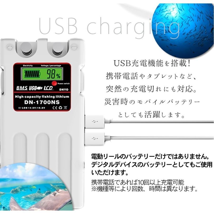 ダイワ シマノ 電動リール用 DN-1700NS スーパーリチウム バッテリー 充電器 セット 14.8V 10400mAh SONYセル k2linksfactory 05