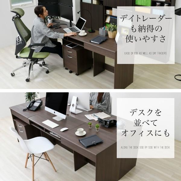 デスク ワイドデスク オフィスデスク 同価格で選べる4サイズ 180 190 200 210 cm 奥行 50 ワークデスク 木製 パソコンデスク システムデスク オフィス家具|k3-furniture|06