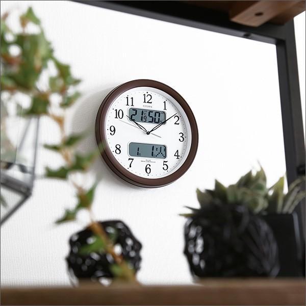 シチズン掛け時計(電波時計)カレンダー・温度湿度表示 メーカー保証1年|ネムリーナカレンダーM01 YOG|ka-grande|05