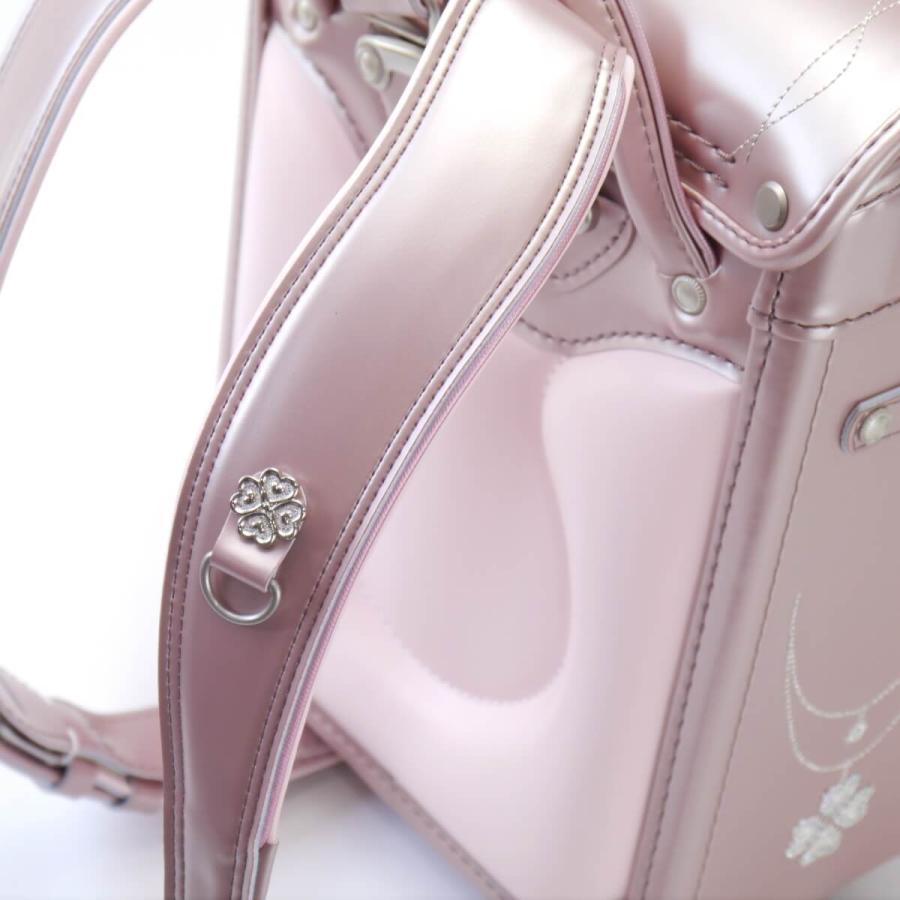 2022 フィットちゃん プラチナクローバー ランドセル 女の子 FE-3813 クラリーノF 刺繍 日本製 A4フラットファイル対応 コンパクト 6年保証 kaban-kimura 04