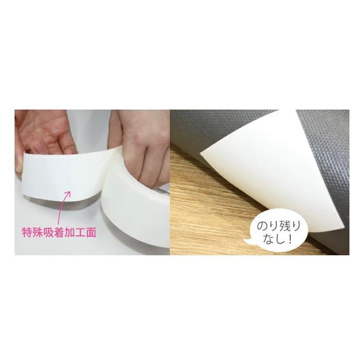 東リ AKテープ パネルカーペット 固定用テープ(1個で約20ヵ所固定)ラグ マット を フローリングに 固定 ずれない 貼ってはがせる  吸着テープ AKtape 4cm×3m|kabecolle|04