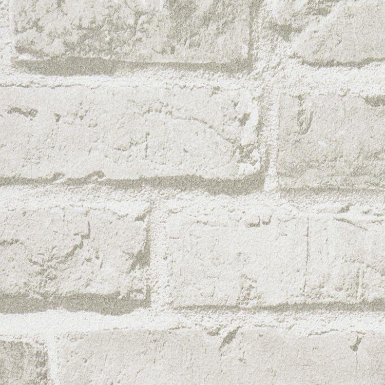 サンプル 壁紙 レンガ SRF-6422 ホワイト おしゃれ 張り替え DIY 国産 ...