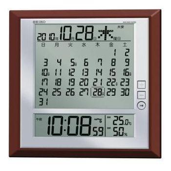 セイコー SEIKO 価格交渉OK送料無料 高価値 電波掛け時計デジタルカレンダー SQ-421B SQ421B