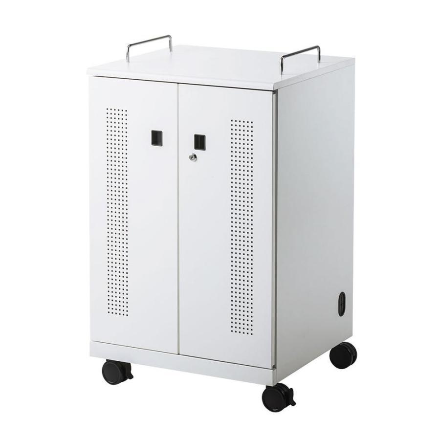 サンワサプライ ノートパソコン収納キャビネット(12台収納) CAI-CAB104W 同梱・代引不可 CAI-CAB104W 同梱・代引不可