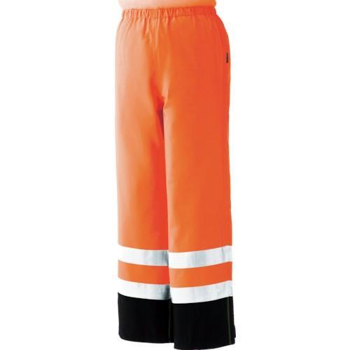 トラスコ中山 RAINVERDENSITAORS ミドリ安全 雨衣 レインベルデN 高視認仕様 下衣 蛍光オレンジ S