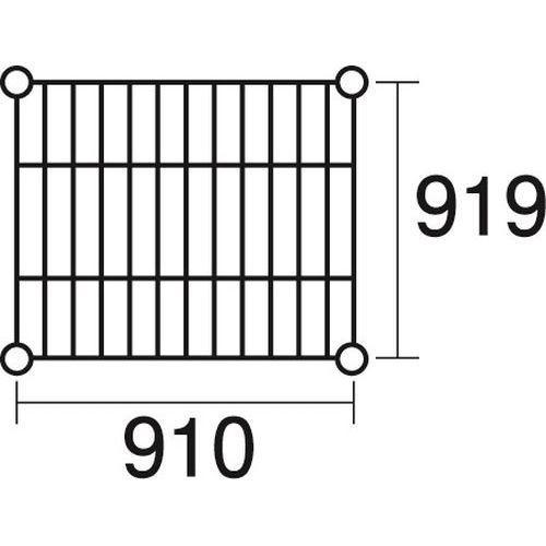 KND-137121 ステンレスエレクター 棚 SLLS910 (KND137121)