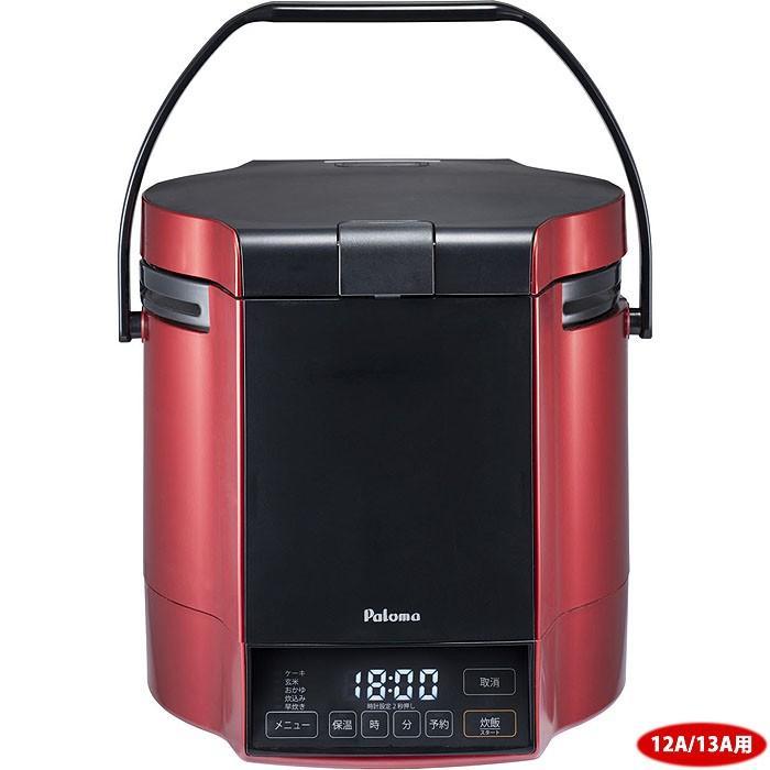パロマ PR-M18TR-13A 1.8L(10合)炊き ガス炊飯器「炊きわざ」(プレミアムブラック×ブラック)(都市ガス 12A/13A)