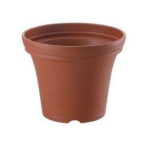ds-2247791 (まとめ) ノヴェルポット/植木鉢 【20型N 容量約2.2L ブラウン】 約Ф20×H16cm ガーデニング用品 園芸 【×36個セット】 (ds2247791)