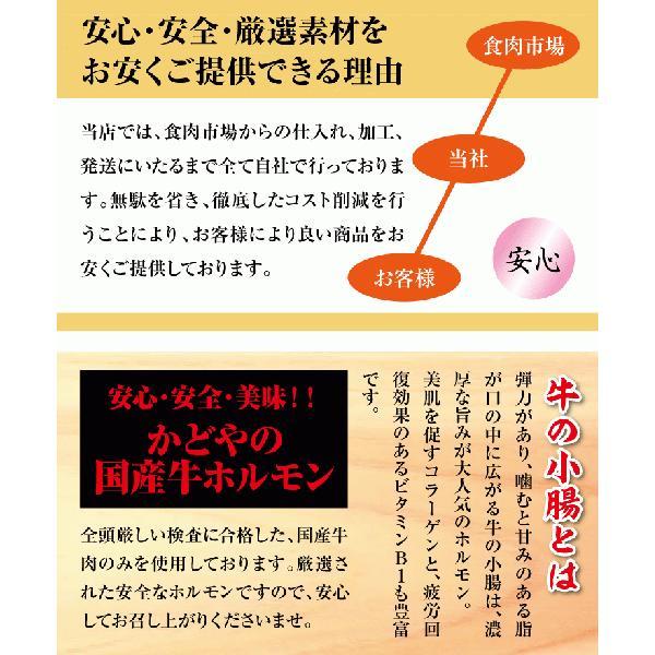 国産牛ホルモン味付け焼肉用500g|kadoyabokujou|04