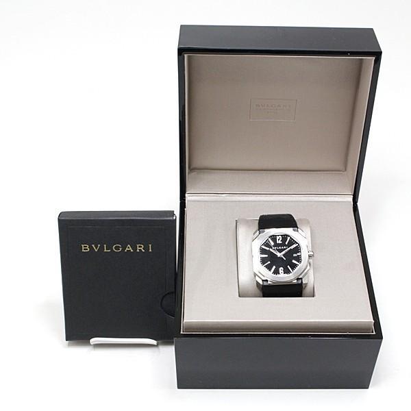 BVLGARI ブルガリ メンズ腕時計 オクトソロテンポ BGO38S ブラック(黒)文字盤 レザーベルト 未使用品|kadusaya78|02