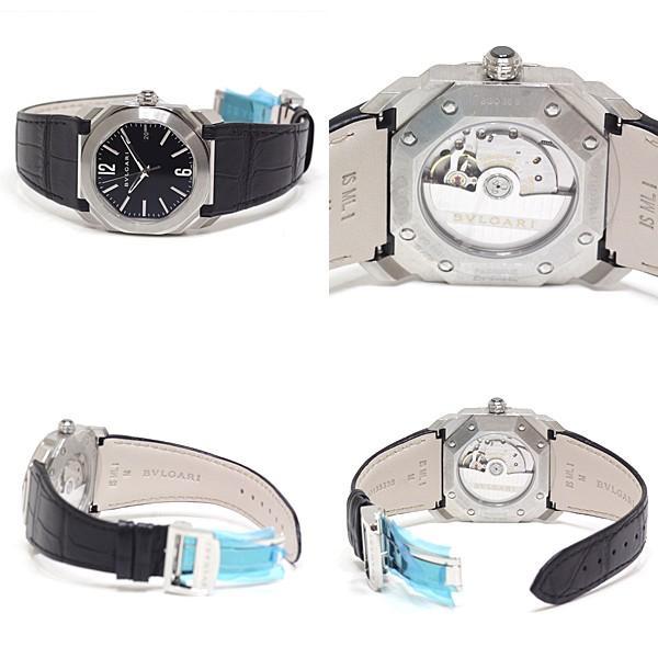 BVLGARI ブルガリ メンズ腕時計 オクトソロテンポ BGO38S ブラック(黒)文字盤 レザーベルト 未使用品|kadusaya78|03