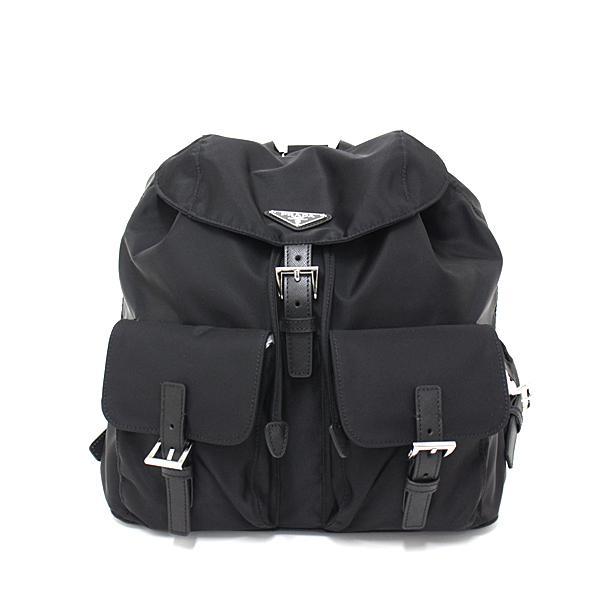 プラダ PRADA ナイロン×サフィアーノレザー バックパック ブラック/NERO 黒 BZ2811 トライアングルロゴ リュックサック 新品同様 kadusaya78