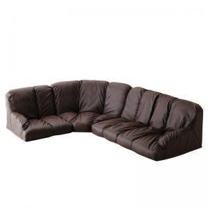 フロアコーナーソファ【Lumie】ルミエ ハイタイプ 左コーナーセット 【代引不可】 [4D] [4D] [00]