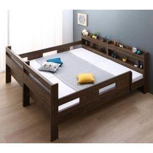 ずっと使える!2段ベッドにもなるワイドキングサイズベッド ずっと使える!2段ベッドにもなるワイドキングサイズベッド Whentoss ウェントス 薄型軽量ボンネルコイルマットレス付き ワイドK200[L][00]