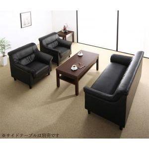 条件や目的に応じて選べる 重厚デザイン応接ソファセット Office Road オフィスロード ソファ3点&テーブル 4点セット 4点セット 1P×2+2P[1D][00]