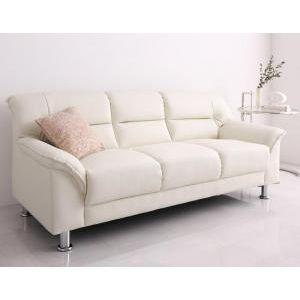 シンプルモダンシリーズ 白い ホワイト ソファ 3P(単品)[L][00]