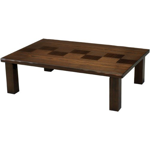 日本製 天然木折りたたみ座卓 市松 幅120cm