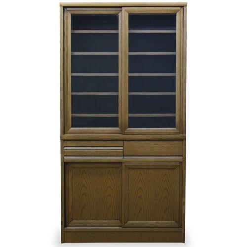 食器棚 エッセン 幅90cm高さ175cm MO(ミディアム) 514802
