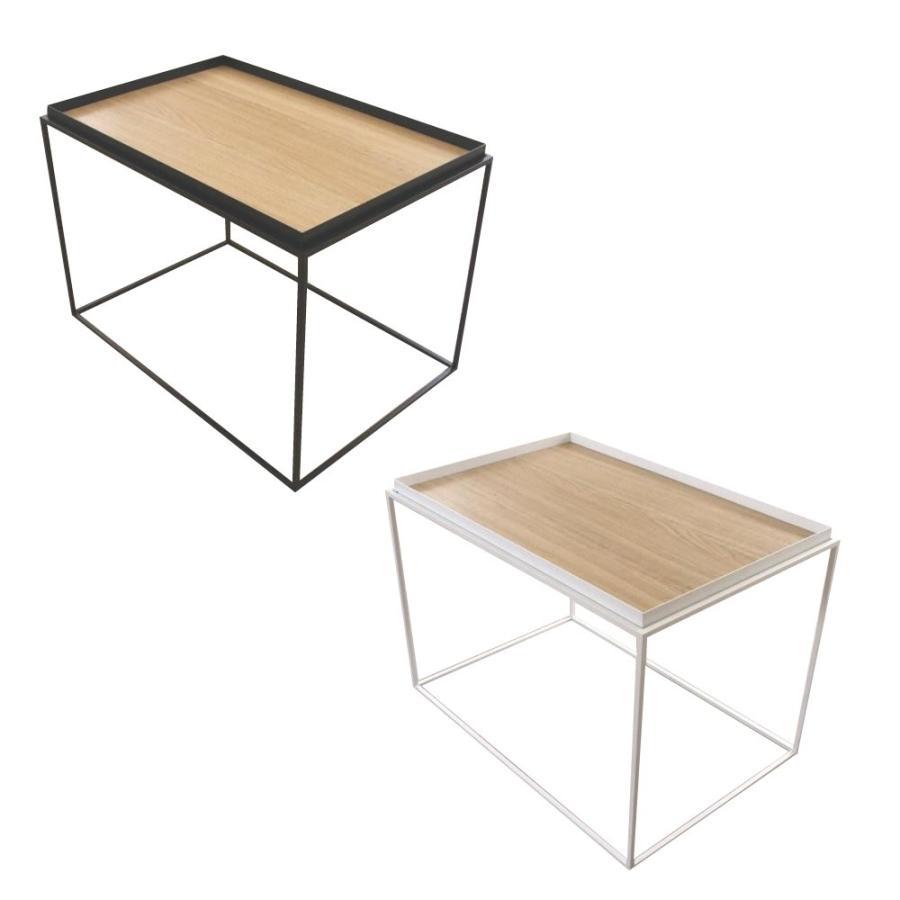 送料無料 トレイテーブル サイドテーブル 600×400mm ナラ突板(同梱・代引不可)