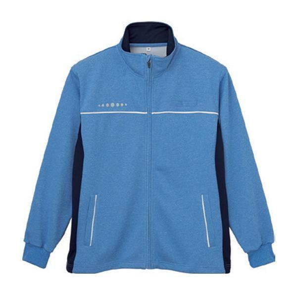 送料無料 男女兼用ハーフジャケット ブルー 5L WH90245 2185-6366
